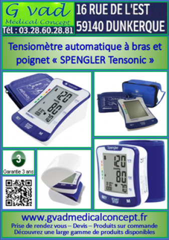 Tensiomètre automatique à bras et poignet « SPENGLER Tensonic »
